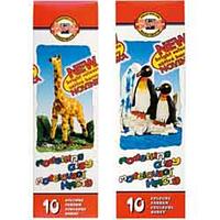 Пластилин для лепки koh-i-noor Жираф 10 цветов 200 гр картонная упаковка (131504)