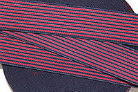 Резинка декоративная 60мм. т.синий+красный, фото 1