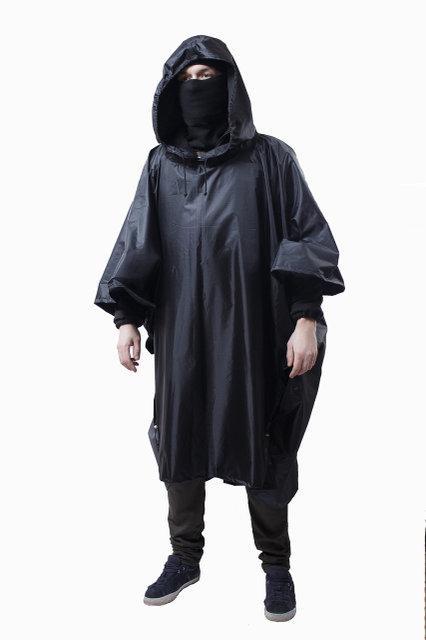 Дождевик (пончо) с проклеенными швами чёрный