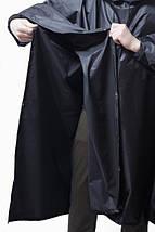 Дождевик (пончо) с проклеенными швами чёрный, фото 2