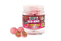 Бойлы Dynamite Baits Cork Ball Pop-Ups - Red Amo Fluro Pink 15мм