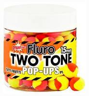 Бойлы DYNAMITE BAITS Tutti Frutti & Pineapple Fluro Two Tone Pop-Ups 15 мм