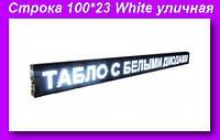 Бег. строка 100*23 White уличная,Уличная строка для рекламы