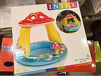 Детский надувной бассейн «Веселый Гриб». Бассейн с козырьком.