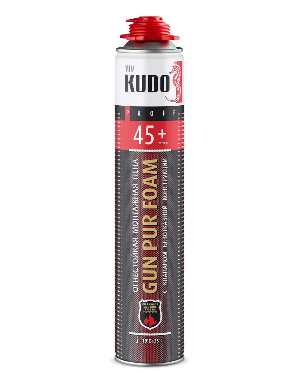 KUPPF10U45+ Пена монтажная профессиональная огнестойкая всесезонная PROFF 45+ FIREPROOF - Интернет-магазин BiBiOil  в Днепропетровской области