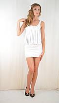 Платье клубное молодежное открытое со стразами молочное, фото 3