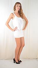 Платье клубное молодежное открытое со стразами молочное, фото 2