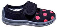 Обувь Малыш (корал.горошек+чёрный)