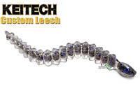 """Силикон Keitech Custom Leech 3,0"""" col.440C Electric Shad (10шт)"""