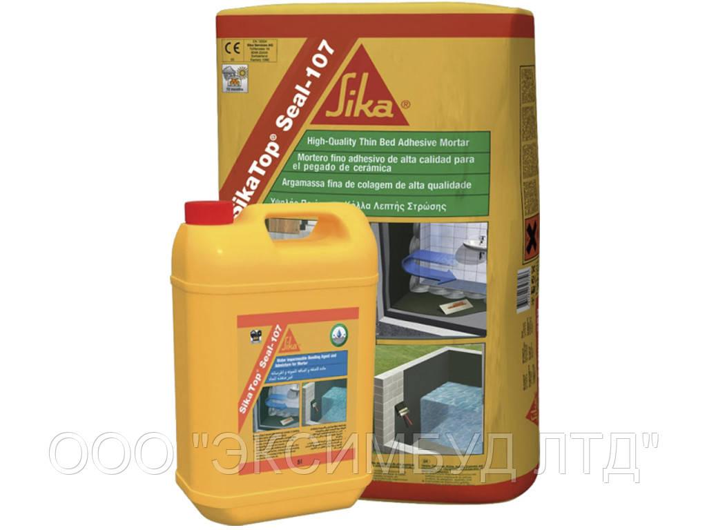 SikaTop®Seal-107 раствор на цементной основе для гидроизоляции и выравнивания, 25кг.