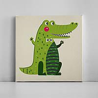 Детская картина на холсте Крокодил 30х30 см