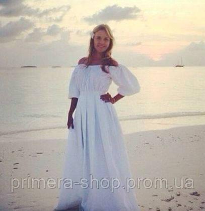 d3906e5f1ed Пышное платье в пол со складками и длинным поясом
