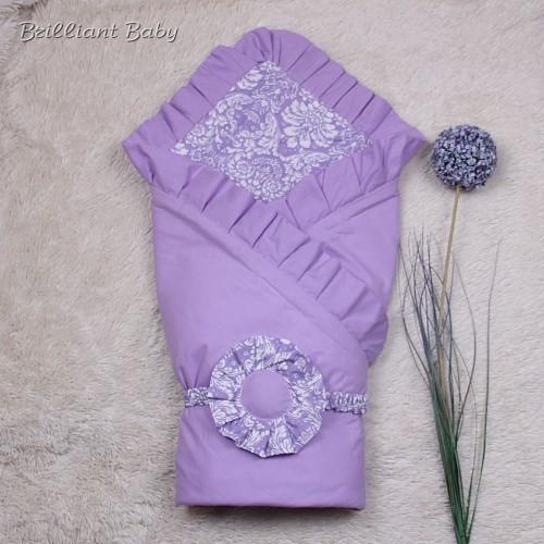 """Летний конверт-одеяло """"Богемия"""", лиловый"""
