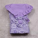 """Летний конверт-одеяло """"Богемия"""", лиловый, фото 3"""