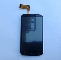 Дисплейный модуль  HTC T328w Desire V,черный, с тачскрином