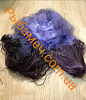 Сеть рыбацкая одностенная (синяя, груз дробинка) 1.8х100м ячея 20-80