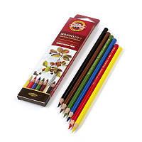 Набор акварельных карандашей 3715 Mondeluz 6 цв. Koh-I-Noor