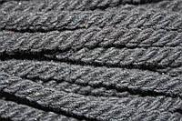 Канат декоративный ХБ 8мм (50м) черный , фото 1