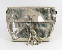 Золотистая женская сумка, фото 1