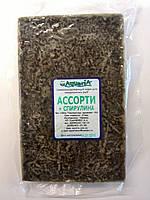 Замороженный корм для рыб Ассорти +Спирулина