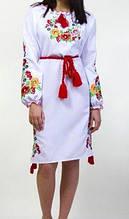 Вышитое платье гладь на габардине Батал +++ БП