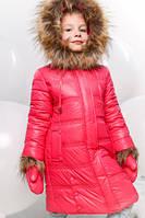 Пальто зимнее детское  для девочки. Пуховик.