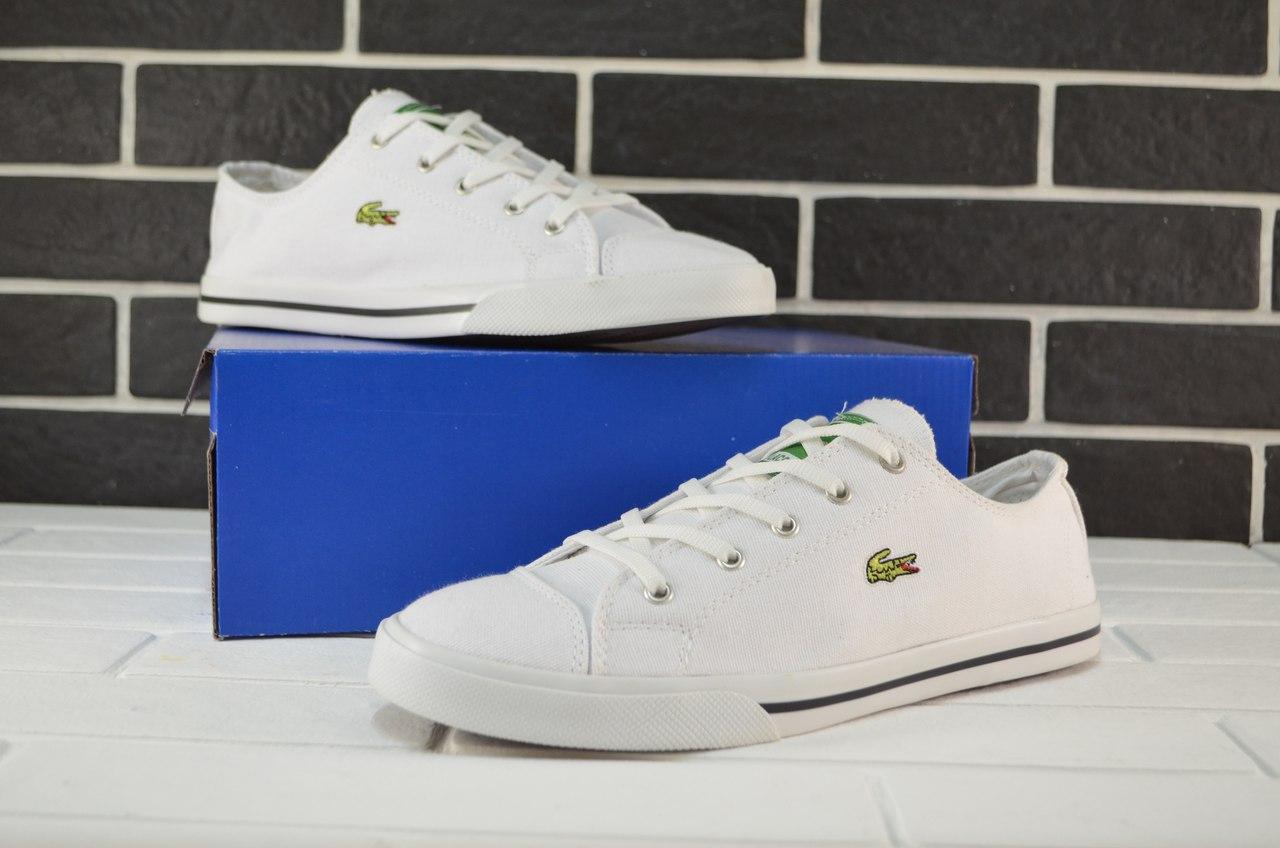 f736bc3ff9cd Кеды белые Lacoste топ реплика - Интернет-магазин обуви и одежды KedON в  Киеве