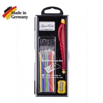 Набор мелков Signet color DUO etui с ручкой и точилкой.
