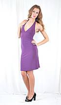 Стильное платье фиолетовое, с декольте, открытой спинкой и стразами. Акция!, фото 3