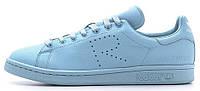 Женские кроссовки кеды Raf Simons x Adidas Originals Stan Smith Blue (Адидас Стэн Смит Раф Симонс) голубые