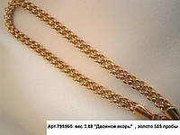 Золотой браслет якорного плетения