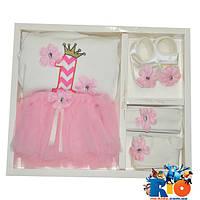 """Детский набор - коробка """"Pon Pon"""", на 1 годик девочке"""