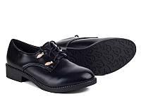 Женская осенняя обувь. Туфли на шнуровке оптом от фирмы Бабочка 25-59 (8пар 36-41)