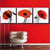 """Модульная картина цветы """"Red flower"""", фото 2"""