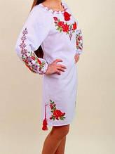 Батальное платье с цветочной вышивкой +++ БП