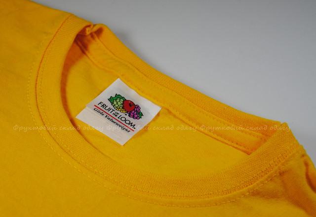 Солнечно-жёлтая детская классическая футболка для девочек