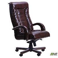 Кресло Кинг Люкс MB бук Кожа Люкс комбинированная Авокадо, фото 1