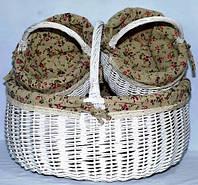Набор пасхальных корзин из лозы (3 шт.) 1201-1