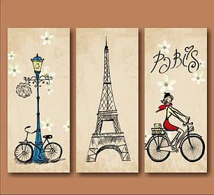 """Модульна картина """"Парижанка"""""""