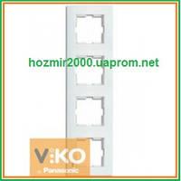 Четверная вертикальная рамка Viko Karre