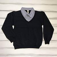 Школьная рубашка-обманка для мальчиков оптом р.122 и 134