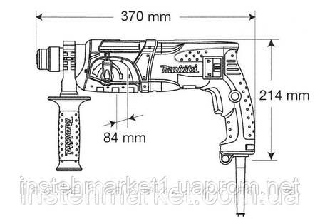 Перфоратор SDS-Plus Makita HR2470 (780 Вт; 2,7 Дж), фото 2