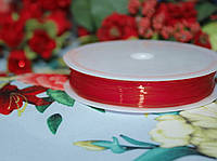 Эластичная силиконовая нить красная (0,8мм, 10м.)