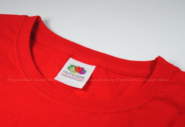 Красная детская классическая футболка для девочек