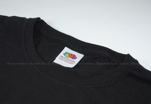 Чёрная детская классическая футболка для девочек