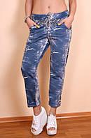 Женские брюки большого размера Джинс огурцы, летние брюки женские, фото 1