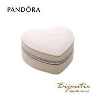 Pandora ШКАТУЛКА СЕРДЦЕ №190709 бежевая кожа  Пандора оригинал