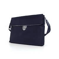 Мужская синяя сумка А4 Philipp Plein 0881-7 через плечо текстильная для документов, фото 1