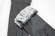 Женские кожаные перчатки КРОЛИК СЕНСОРНЫЕ Средние W15-160064s2, фото 2