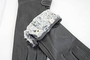 Женские кожаные перчатки КРОЛИК Средние W15-160062s2, фото 3